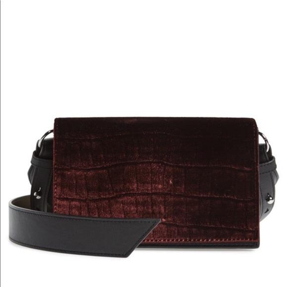 sleek new high quality timeless design ALLSAINTS Keel Velvet Shoulder Bag (new with tags) NWT